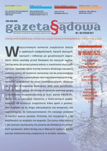Gazeta Sądowa - okładka